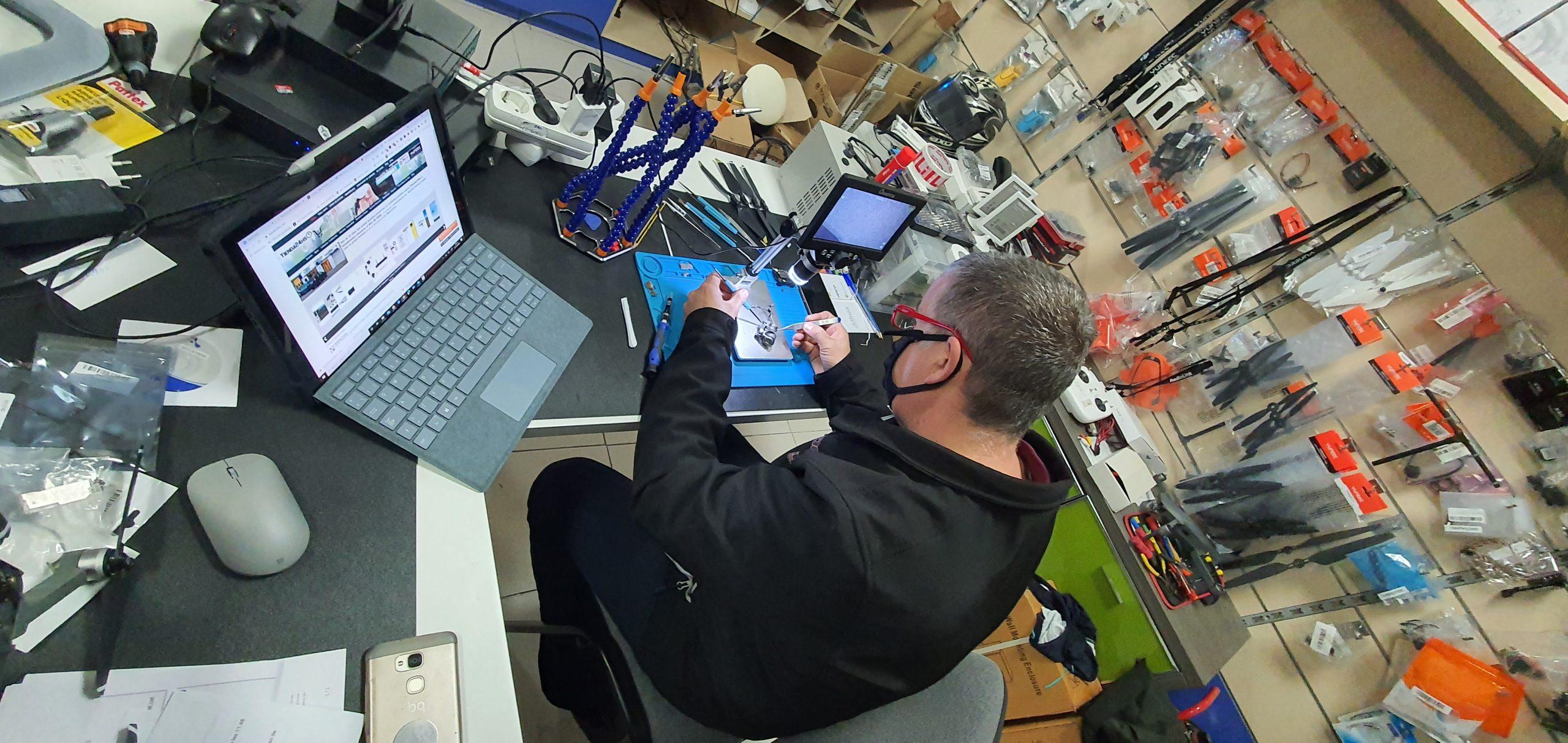 Reparación de drones y aeronaves no tripulada