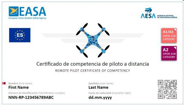 Certificado A2 AESA