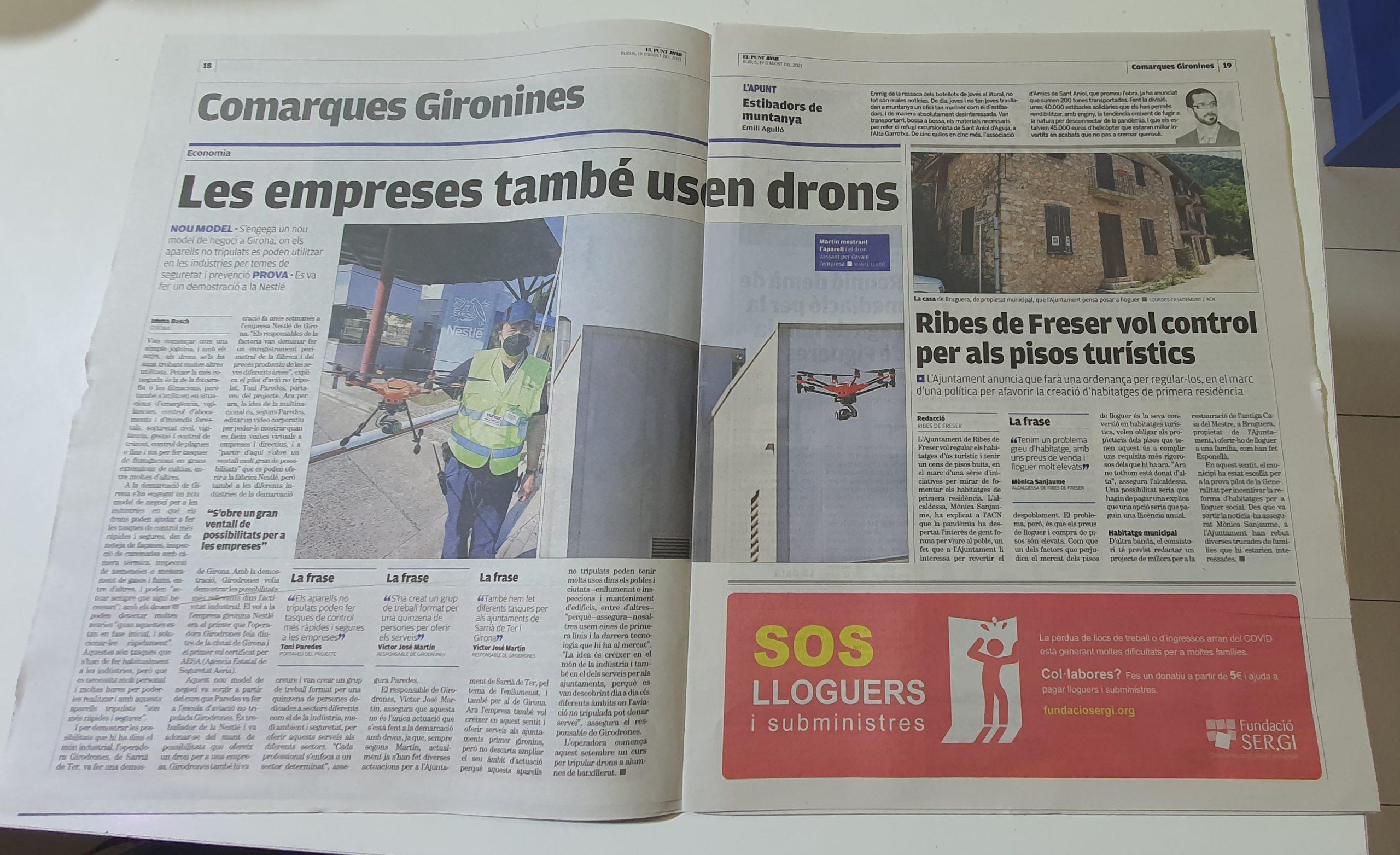Girodrones en Diario Punt Avui